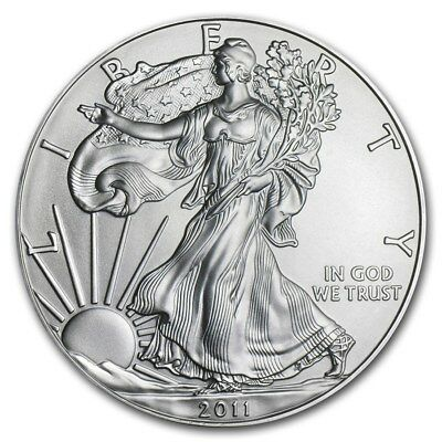 USA 1 Once d'argent pur 999 Aigle / 2011 USA 1 Oz Fine Silver Eagle 999 Liberty