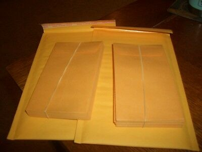 50 KRAFT  #5 1/2 COIN ENVELOPE  3 1/8 X 5 1/2 in  + bonus  2  #00 bubble mailers