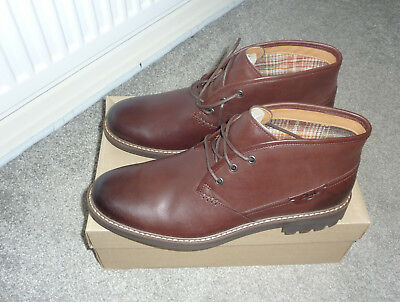 Clarks  Brown leather 'Montacute Dke' Chukka boots UK SIZE 12 FIT G
