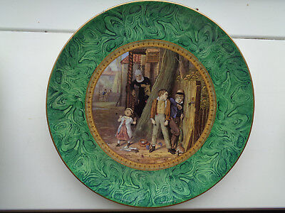 """ THE BULLY "" 9inch MALACHITE BORDER  PRATTWARE PLATE MINT COND ex CROWTHER COL"