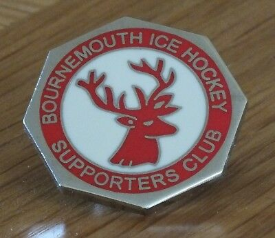Bournemouth Stags SC Team Club Pin Badge **VGC** Ice Hockey