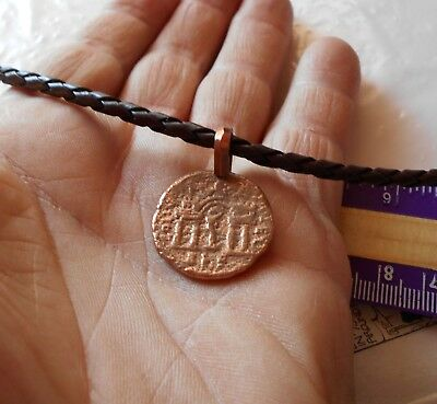 Ancient Byzantine or Roman coin made into pendant necklace !!