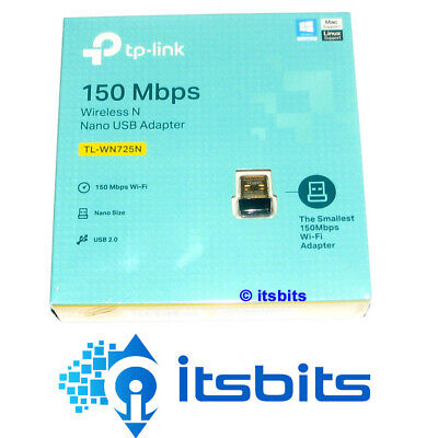 TP-LINK TL-WN725N WIRELESS NANO USB NETWORK ADAPTER 150Mbps 3 YR WARRANTY