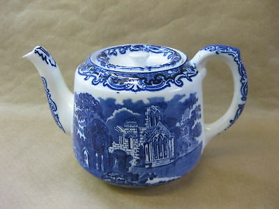 George Jones 'ABBEY' ~ Tea Pot ~ Vintage Blue & White ~ 2 Pint Size