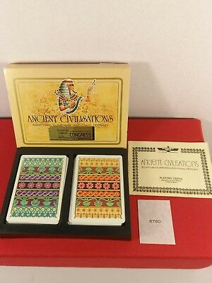 ANCIENT CIVILISATIONS 2 Deck PLAYING CARDS w SLIP CASE Egyptian Persian Congress