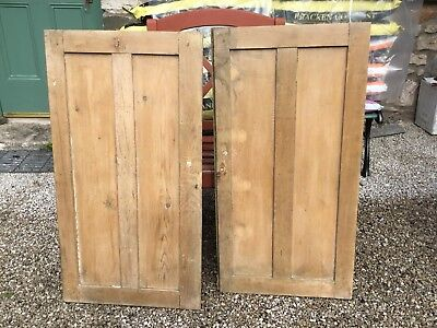 Stripped Pine Cupboard Doors 4 Pairs and 3 Singles