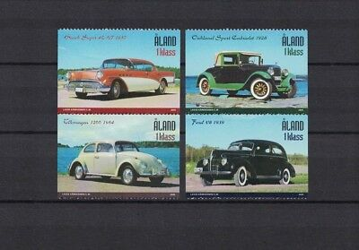 Aland 2005 Minr 247 - 250 ** / mnh Autos cars Oldhimer Ford VW Buick Oakland