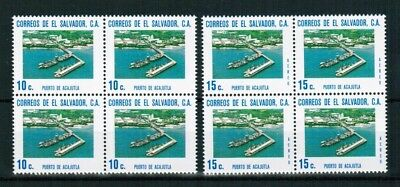 El Salvador 1975 Minr 1135-36 bloc of 4 **/mnh Hafen harbour