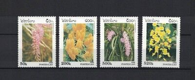 Laos 1996 Minr 1534 - 1537 Y&T 1233 - 1236 ** / mnh orchids Orchideen