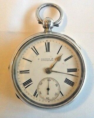 SOLID SILVER POCKET WATCH FWO BIRMINGHAM r (1891)?