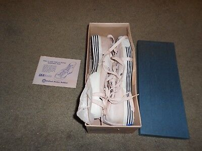 Vintage 1940s -;50S US Pro Keds Canvas High-Top Basketball SHOES 10.5