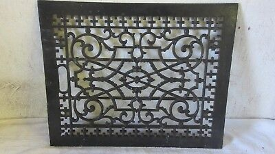 Antique Floor or  Wall 12 x 15 Furnace Cast Iron Air Register Heat Grate