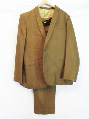 """VINTAGE 1960s MENS SUIT, NEVER WORN, STILL TACKED ! MAD MEN,chest 44"""", W36""""/L32"""""""