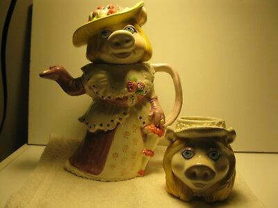 Vintage Miss Piggy Teapot and cup