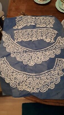 Hand Made Lace Collar And Cuffs