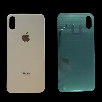 Akkudeckel Original Apple iPhone X Backcover Glas Rückseite Weiß + Kleber