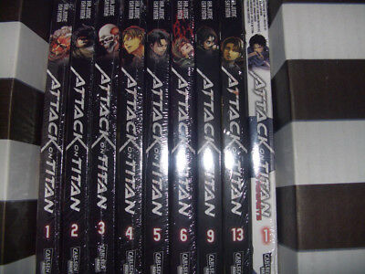 ATTACK  ON  TITAN  Manga  Bd. 1-6 + 9,13 + No Regrets Bd. 1 -neu und OVP