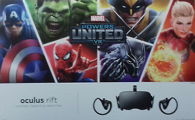 Oculus Rift Virtual Reality Headset Touch Motion-Controller Bundle MARVEL Powers