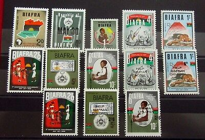 BIAFRA Old Stamps Set - FLAG Independence - Mint MNH - VF - r35e7219