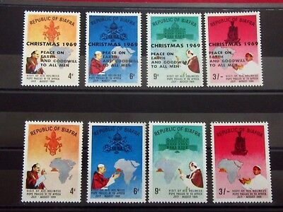 BIAFRA Old Stamps Set - PAPE CHRISTMAS - Mint MNH - VF - r35e7220