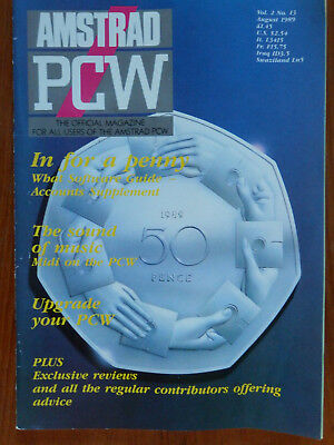 Amstrad PCW - July & August 1989 - 2 vintage computer magazines VGC