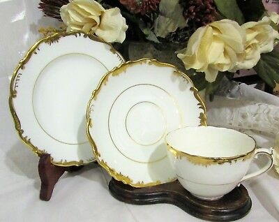 Beautiful Coalport - Admiral Gold - Teacup Trio