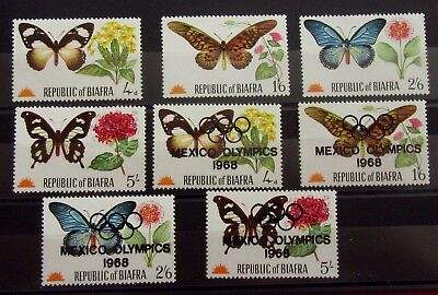 BIAFRA Old Stamps Set - Butterflies - Mint MNH - VF - r35e7223