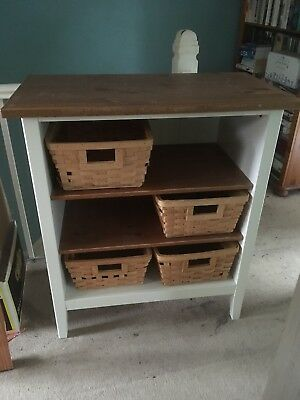 Ikea White And Oak Shelves With Baby Changer Option For Top