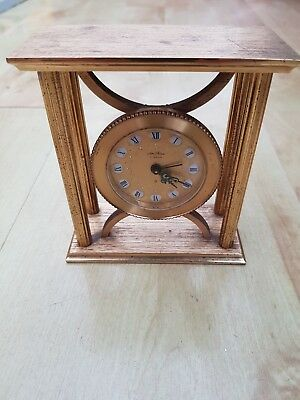 Vintage Seth Thomas Carriage Alarm Clock Solid Brass For Repair