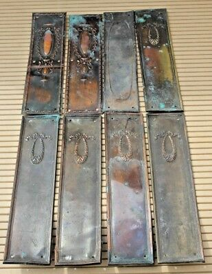 mixed vintage copper door finger plates architectural salvage period detail