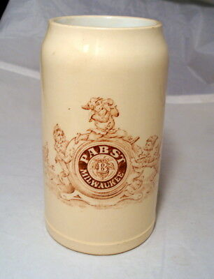 Antique Pre Prohibition PABST Milwaukee Brewery Beer Stein Mug With Gnomes Elves
