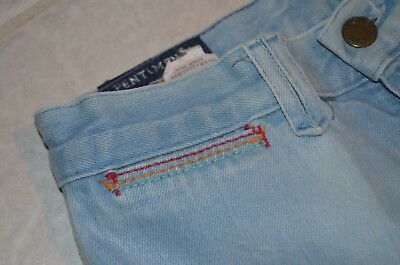 vtg PENTIMENTO womens jeans blue high waist 26 x 33 rainbow contrast stitching