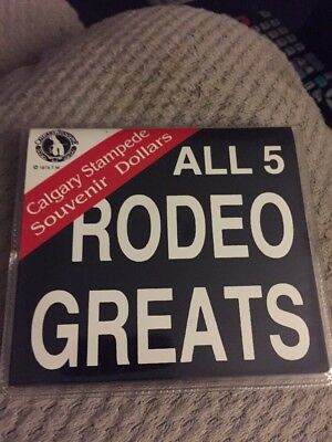 Calgary Stampede Souvenir Dollars, Tolkien's, All 5 Rodeo Greats