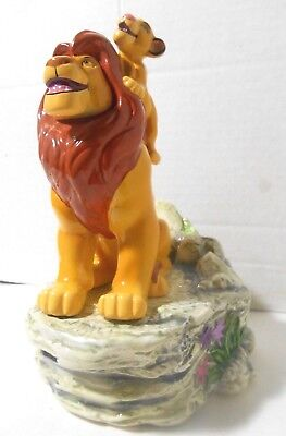 Schmid Disney The Lion King Mufasa Simba Circle of Life Music Box Figurine 1994