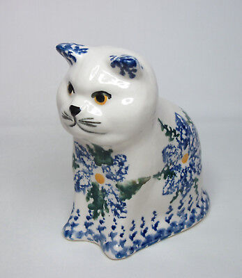"Pottery Cat Rob O'neill - Bunratty Castle, Ireland - Hand Painted 4.5"" 1999"