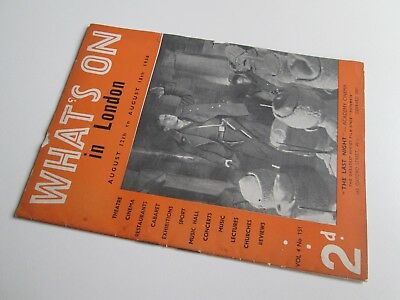 What's On in London Magazine Pre-War 1938 - Theatre Cinema Cabaret Music Hall