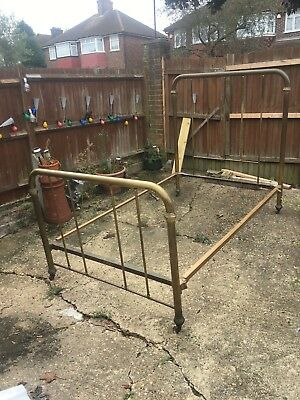 Victorian/ Edwardian Brass King SizeBed And Mattress