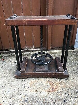 Wooden book press vintage antique old mechanism wooden decor