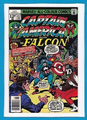 Captain America & The Falcon #217_Jan 1978_Nm-_Nick Fury_Agents Of Shield_Uk!