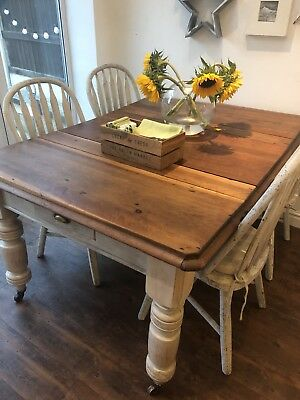 Anqtiue Victorian kitchen table
