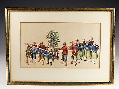 Exceptional Antique Chinese Pith Rice Paper Painting With Figures - #4 Of 10