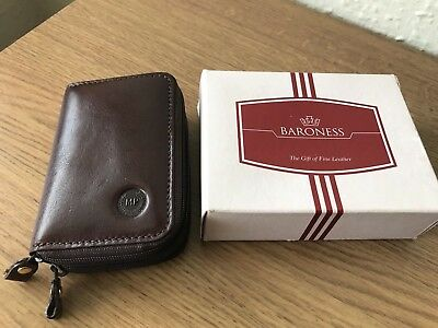 New Ladies purse wallet brown Real leather - Made in Italy