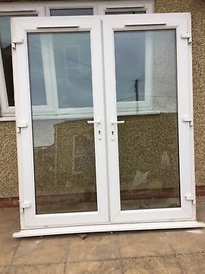 White Upvc French Patio Doors Used 1730 Wide X 2070 High 22269
