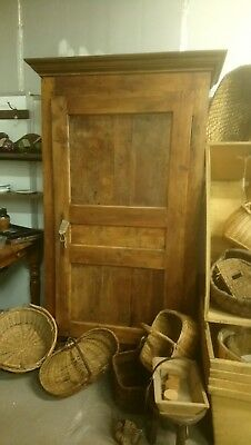 Antique French farrmhouse kitchen food cupboard larder housekeepers linen press