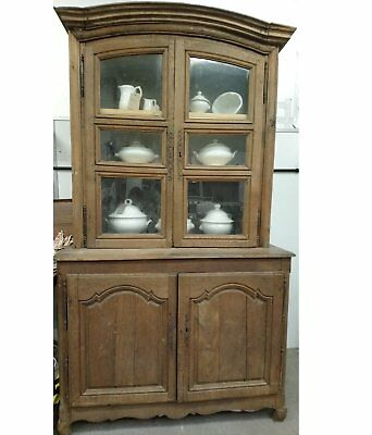 Antique French farrmhouse kitchen buffet larder housekeepers cupboard dresser