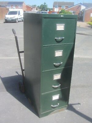 Old Type Dark Green Filing Cabinet
