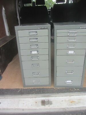 2 Bisley Multi Steel Draw Cabinets
