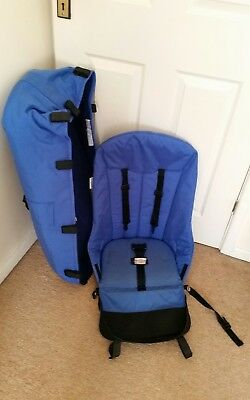 Bugaboo Cameleon  blue seat and carrycot with free hood rods and clamps ..