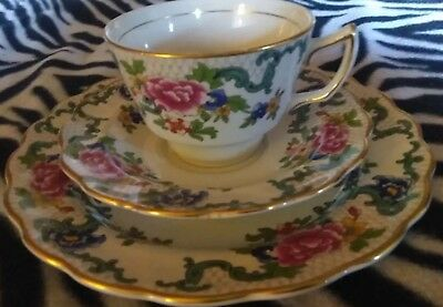 Antique Very Old Booths Floradora Made In England A8042 Rare Teacup & 2 Saucer