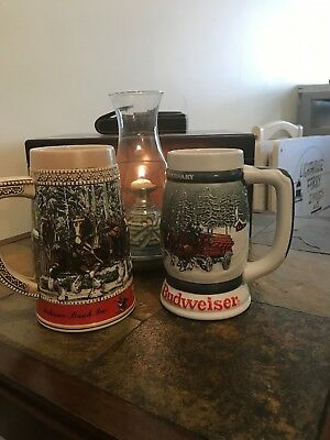 1982 CS57 Budweiser 50th Anniversary Clydesdales 1933-1983 Holiday Stein Mug Cup
